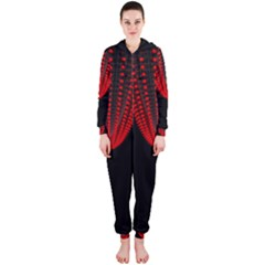 Normal Field Of An Elliptic Paraboloid Red Hooded Jumpsuit (ladies)  by Mariart