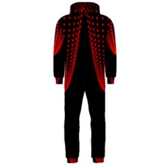 Normal Field Of An Elliptic Paraboloid Red Hooded Jumpsuit (men)  by Mariart