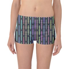 Pencil Stationery Rainbow Vertical Color Boyleg Bikini Bottoms by Mariart