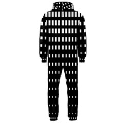 Plaid White Black Hooded Jumpsuit (men)  by Mariart