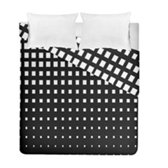 Plaid White Black Duvet Cover Double Side (full/ Double Size) by Mariart