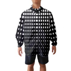 Plaid White Black Wind Breaker (kids) by Mariart