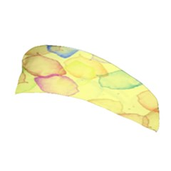 Watercolors On A Yellow Background                Stretchable Headband