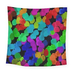 Colorful Strokes On A Black Background              Fleece Blanket by LalyLauraFLM
