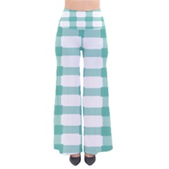 Plaid Blue Green White Line Pants by Mariart