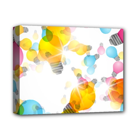 Lamp Color Rainbow Light Deluxe Canvas 14  X 11  by Mariart