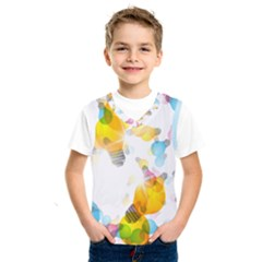 Lamp Color Rainbow Light Kids  Sportswear by Mariart