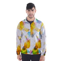 Lamp Color Rainbow Light Wind Breaker (men) by Mariart