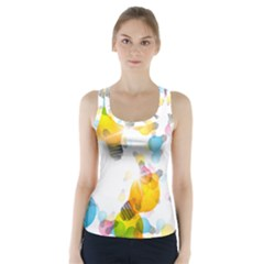 Lamp Color Rainbow Light Racer Back Sports Top