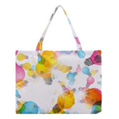 Lamp Color Rainbow Light Medium Tote Bag by Mariart