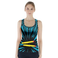 Match Cover Matches Racer Back Sports Top by Mariart