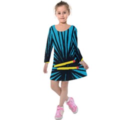 Match Cover Matches Kids  Long Sleeve Velvet Dress by Mariart