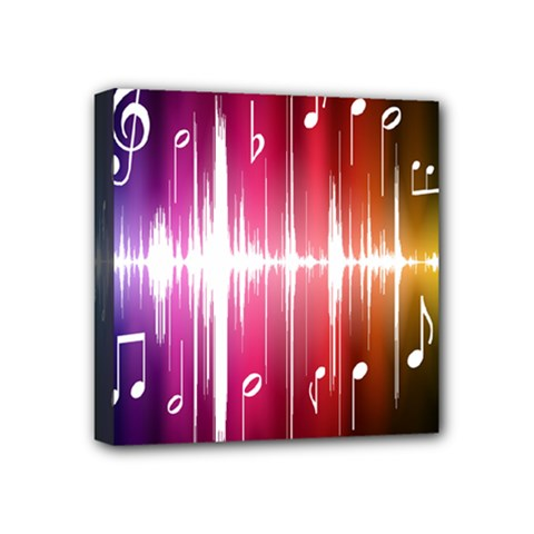 Music Data Science Line Mini Canvas 4  X 4  by Mariart