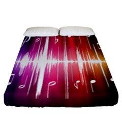 Music Data Science Line Fitted Sheet (california King Size) by Mariart