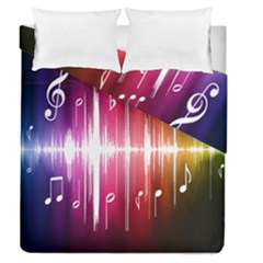 Music Data Science Line Duvet Cover Double Side (queen Size) by Mariart