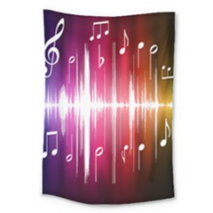Music Data Science Line Large Tapestry by Mariart