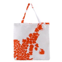 Red Spot Paint Grocery Tote Bag by Mariart