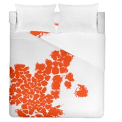 Red Spot Paint Duvet Cover Double Side (queen Size) by Mariart