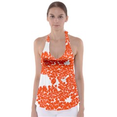 Red Spot Paint White Polka Babydoll Tankini Top by Mariart