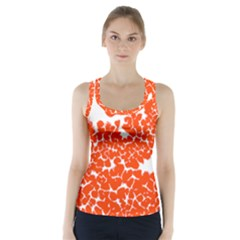 Red Spot Paint White Polka Racer Back Sports Top