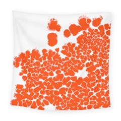 Red Spot Paint White Polka Square Tapestry (large) by Mariart