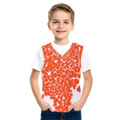 Red Spot Paint White Kids  Sportswear by Mariart