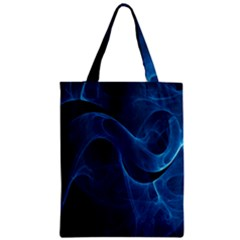 Smoke White Blue Zipper Classic Tote Bag by Mariart