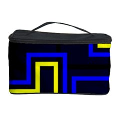 Tron Light Walls Arcade Style Line Yellow Blue Cosmetic Storage Case by Mariart