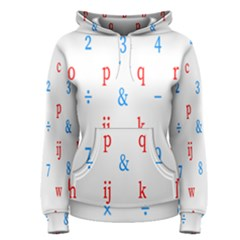 Source Serif Number Women s Pullover Hoodie