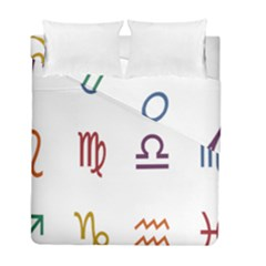 Twelve Signs Zodiac Color Star Duvet Cover Double Side (full/ Double Size) by Mariart