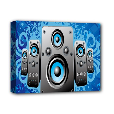 Sound System Music Disco Party Deluxe Canvas 14  X 11  by Mariart