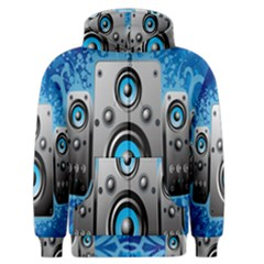 Sound System Music Disco Party Men s Zipper Hoodie by Mariart