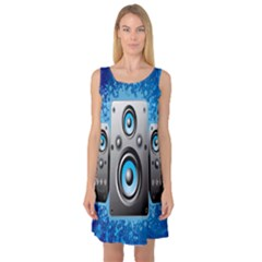 Sound System Music Disco Party Sleeveless Satin Nightdress by Mariart