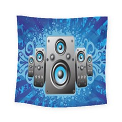 Sound System Music Disco Party Square Tapestry (small) by Mariart