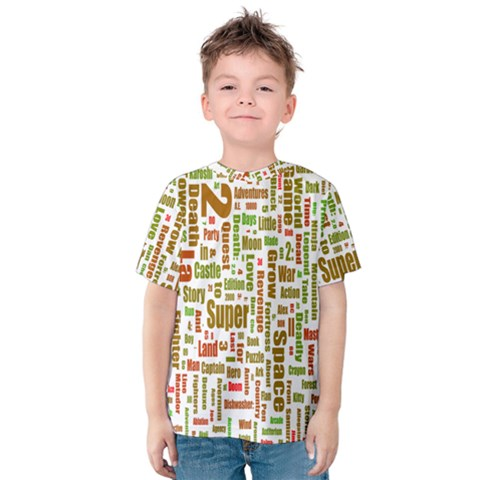 Screen Source Serif Text Kids  Cotton Tee by Mariart