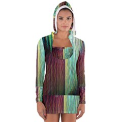 Screen Shot Line Vertical Rainbow Women s Long Sleeve Hooded T Shirt by Mariart