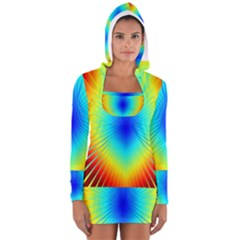 View Max Gain Resize Flower Floral Light Line Chevron Women s Long Sleeve Hooded T-shirt by Mariart