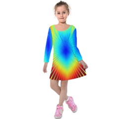 View Max Gain Resize Flower Floral Light Line Chevron Kids  Long Sleeve Velvet Dress by Mariart