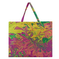 Colors Zipper Large Tote Bag by Valentinaart