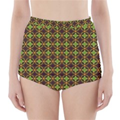 Kiwi Like Pattern High Waisted Bikini Bottoms by linceazul