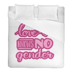 Love Knows No Gender Duvet Cover (full/ Double Size) by Valentinaart