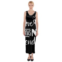 Love Knows No Gender Fitted Maxi Dress by Valentinaart