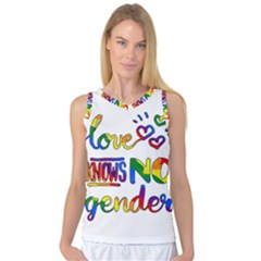 Love Knows No Gender Women s Basketball Tank Top