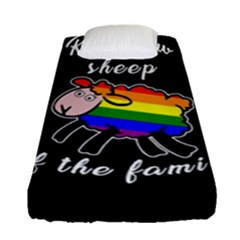 Rainbow Sheep Fitted Sheet (single Size) by Valentinaart