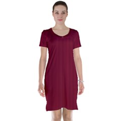 Lines Pattern Short Sleeve Nightdress