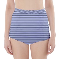 Lines Pattern High Waisted Bikini Bottoms