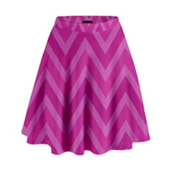 Zigzag  Pattern High Waist Skirt