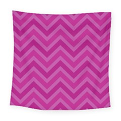 Zigzag  Pattern Square Tapestry (large)