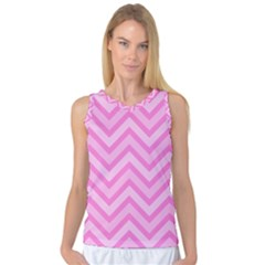 Zigzag  Pattern Women s Basketball Tank Top