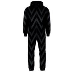 Zigzag  Pattern Hooded Jumpsuit (men)
